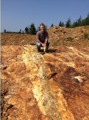 C:\Users\Geodex\Documents\South Quarry photos\David Martin South Quarry Vein Pic 1.JPG