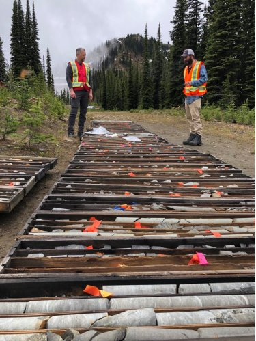 Review of diamond drill core at Heino Gold