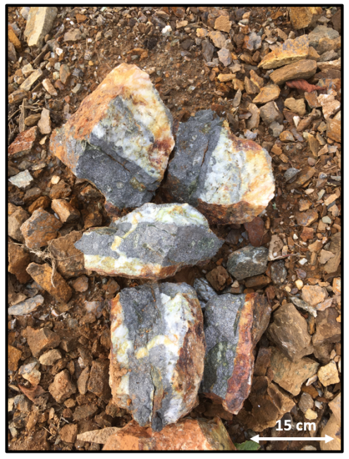 A close up of a rock  Description automatically generated